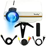 yaufey 1200ルーメン 800*480解像度 LED ミニプロジェクタ  ノート、 サウンド、 デジタルカメラ、ゲーム機、 usbドライブ、SDカードなど接続可能、多装置インタネット(HDMI、AV、USBなど)寿命30000H YG400