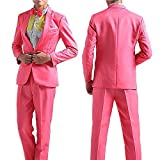 ds5034 メンズ ステージスーツ カラースーツ テーラード カラオケ衣装 ダンス 司会者 マジシャン(L/適当身長180cm)