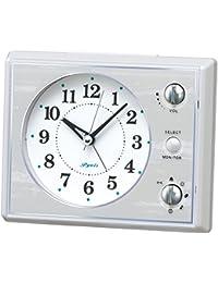 セイコー クロック 目覚まし時計 アナログ マルチサウンドアラーム 白 NR445W SEIKO