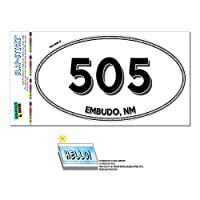 505 - 漏斗, NM - ニューメキシコ州 - 楕円形市外局番ステッカー