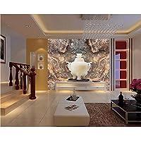 Wuyyii カスタム壁紙大理石のヨーロッパスタイルのテレビの背景の壁の家の装飾の背景の壁の壁画3Dの壁紙 - 450X300Cm