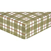 Trend Lab Flannel Crib Sheet, Sage Green by Trend Lab (English Manual)