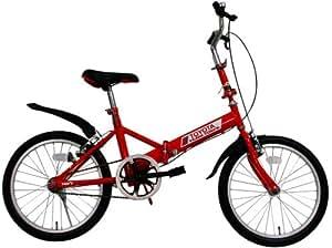 ミムゴ 20インチ折畳み自転車 トムスバイク(レッド) MG-TE20-RD