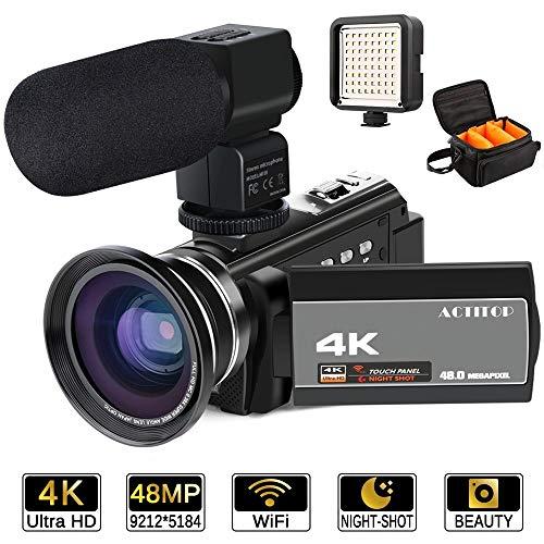 ビデオカメラ ACTITOP デジタルビデオカメラ 4K H...