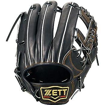 ZETT(ゼット) 硬式野球 プロステイタス グラブ (グローブ) セカンド・ショート用 ブラック(1900) 右投げ用 BPROG660
