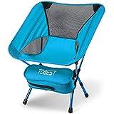 TDBEST アウトドアチェア キャンプ 椅子 折りたたみ 3段階伸縮調節 アルミ合金 超軽量 収納バッグ付き 持ち運びに便利 お釣り 登山 キャンプ用 (ブルー)
