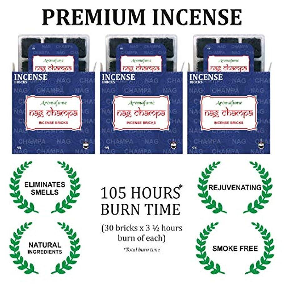 共同選択訪問化合物Aromafume ナグチャンパ線香 - トレイ3個セット