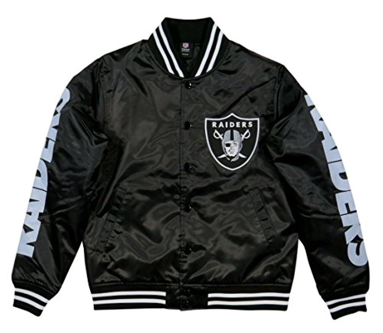 (マジェスティック) MAJESTIC NFL オークランド レイダース ナイロンサテン スタジャン