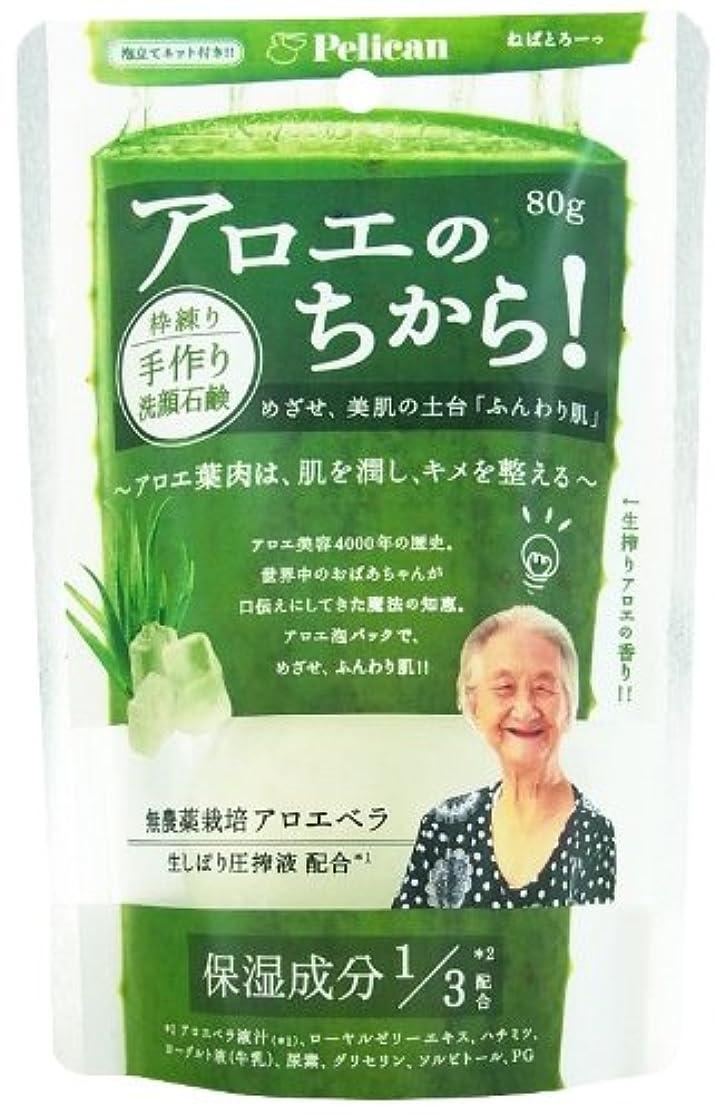 窒素継続中アクティブアロエの力洗顔石けん 80g