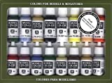 [バジェホ]Vallejo Basic USA Colors Paint Set, 17ml VJ70140 [並行輸入品]