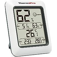 ThermoPro湿度計 デジタル温湿度計 室内温度計 最高最低温湿度表示 TP50