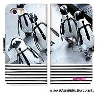 手帳型 スマホケース [AQUOS CRYSTAL 305SH] ケース 手帳 おしゃれ 人気 0302-C. ペンギンギャング 305sh 手帳型ケース アクオスクリスタル カバー アクオスフォン ケース