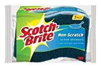 Scotch-Brite Non-Scratch Scrub Sponge, Great For Nonstick Cookware, 3-Sponges/Pk, 8-Packs (24 Sponges Total)