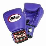 Twins ボクシンググローブ 本革製 8オンス パープル