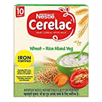 Nestlé CERELAC Fortified Baby Cereal with Milk, Wheat-Rice Mixed Veg – From 10 Months, 300g BIB Pack
