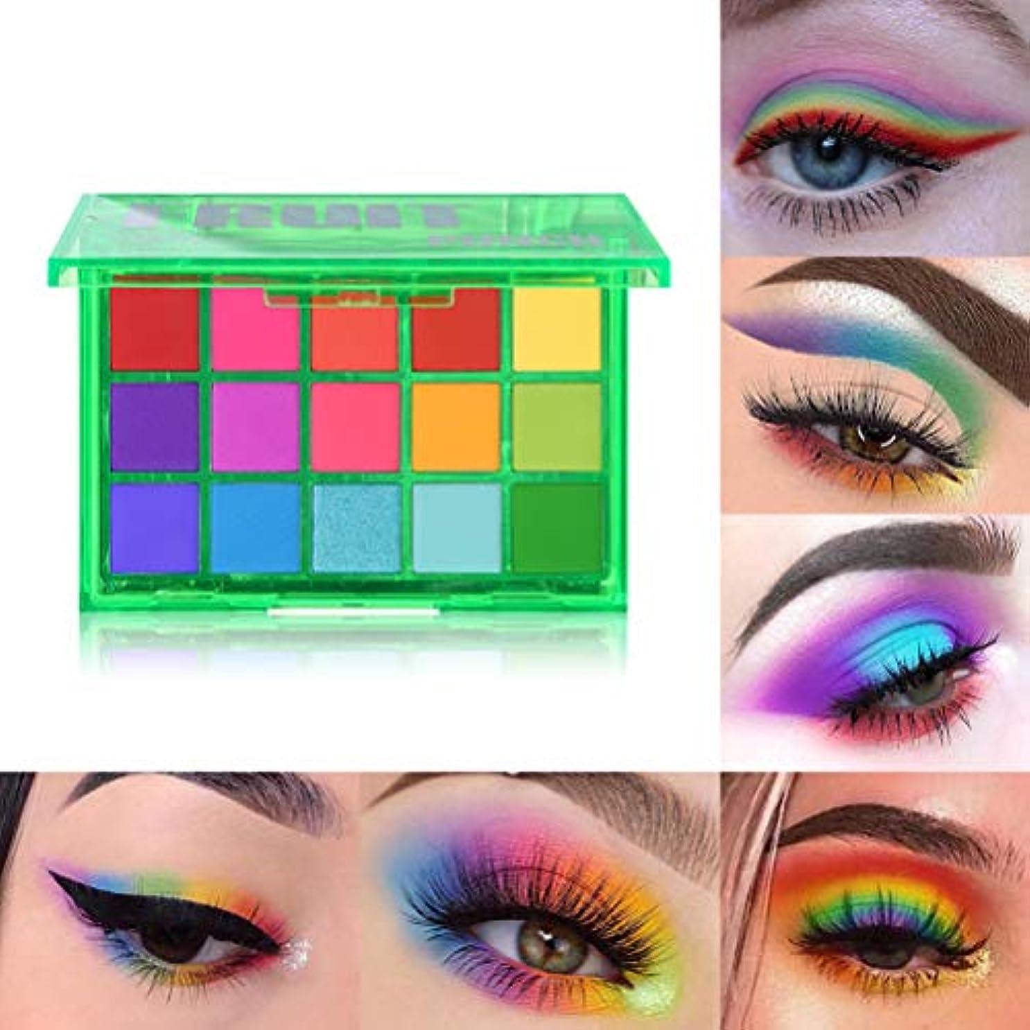 ショート動脈ローズEyeshadow Palette,15 Colors Shimmer Glitter Matte Eyeshadow Powder Makeup Palette