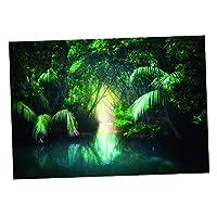 PETSOLA ステッカー バックグラウンド ポスター 背景 3D PVC製 水槽 水族館 湖 全6サイズ - 約76x56cm