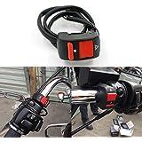 Chinatera Universal Handlebar Motorcycle Accident Hazard Light Switch Kit On/Off Motorbike