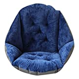 YUNCLOS 座布団 クッション 低反発 背もたれ付き 低反発ぬくもりクッション 座椅子 椅子用クッション 低反発座椅子 車用 椅子用 肌触りのよい ふわふわ
