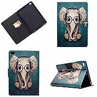 iPad Mini ケース,iPad Mini 2 ケース,Gift_Source 多角度視野 カードポケット付き シェルスタンドカバーのためのオート スリム傷つけ防止 オートスリープ カバー レザー PU スタンド機能 スリム傷つけ防止 オートス for Apple iPad Mini 1/2/3 [象]