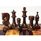 Double Queens シーシャム スタントン ウッド ロシアンナイト チェス メンズセット - ボードなし