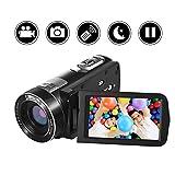 ビデオカメラデジタルカメラYISENCE HD18X デジタルズームナイトビジョン270°回転リモートコントロール付き
