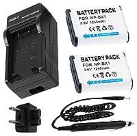 バッテリー2パック+充電器for Sony Cyber - shot DSC - wx300, DSC - wx350, DSC - wx500デジタルカメラ