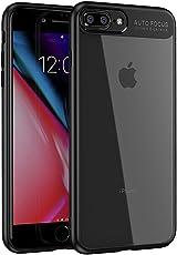 iPhone8 plusケースiPhone7 plusケース, LAYJOY アイフォン8/7 プラス カバー バンパー 透明 ハードPC + ソフト ブラックTPU [軽量 耐衝撃 傷防止 落下防止 レンズ保護] [Qi充電対応] iPhone 8 plus/7 plusスマホ ケース (クリア)