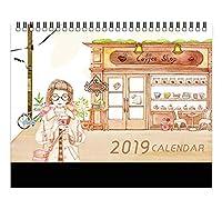 2019年自然カレンダー上級ビジネスカレンダーオフィスカレンダー - F