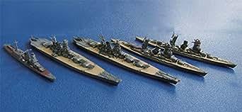 フジミ模型 1/3000 集める軍艦シリーズNo.3 連合艦隊旗艦 長門・陸奥・大和・武蔵・大淀セット プラモデル