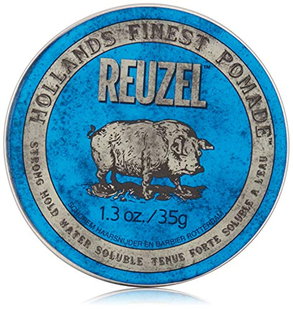 予測する先祖麦芽REUZEL INC ハイシャインポマード、1.3オンスをReuzel 0.1 青
