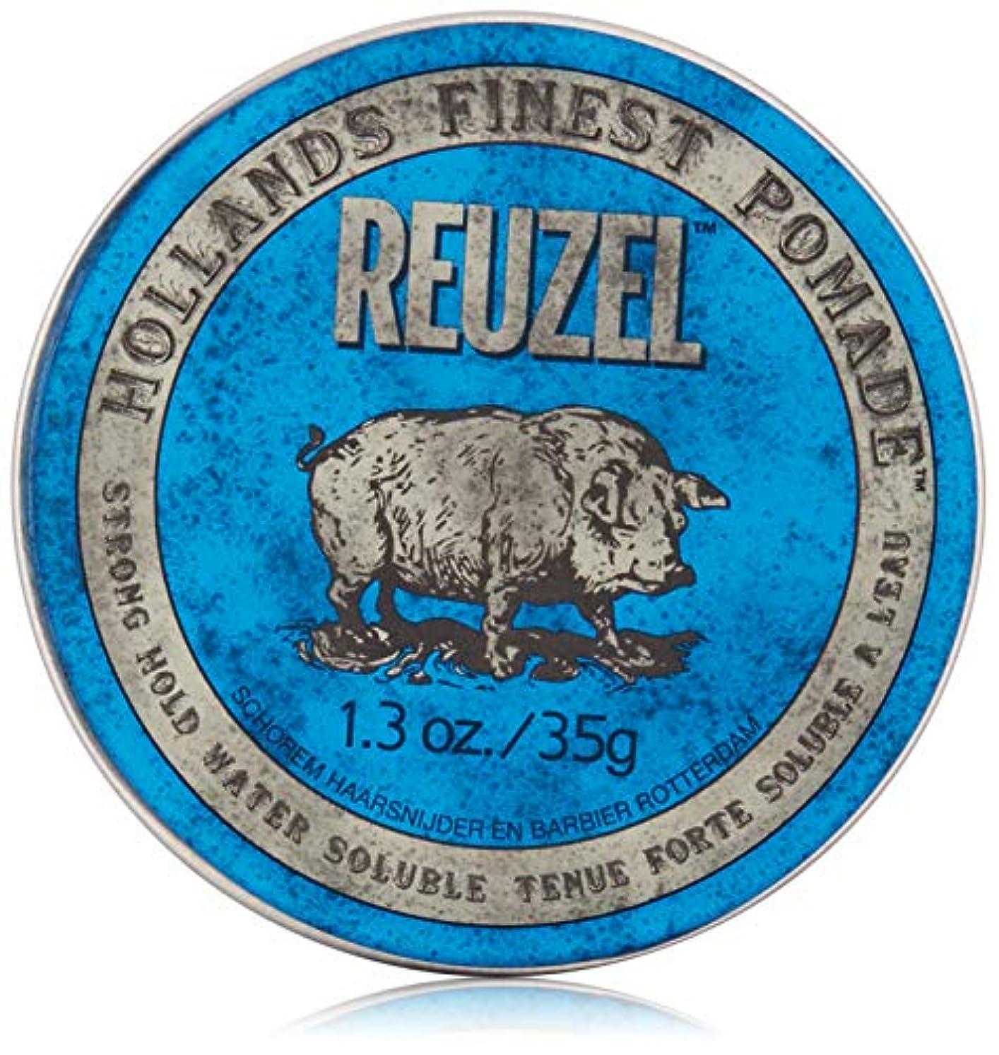 織機連想オフェンスREUZEL INC ハイシャインポマード、1.3オンスをReuzel 0.1 青