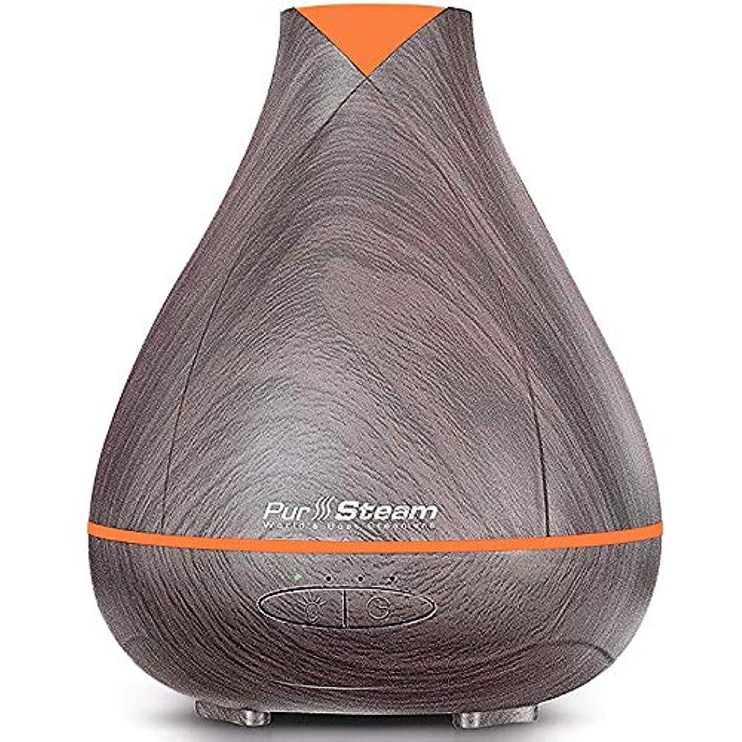 実装する思い出飼料PurSteam Essential Oil Diffuser, Wood Grain Aromatherapy Diffuser Ultrasonic Cool Mist Humidifier with Color LED...