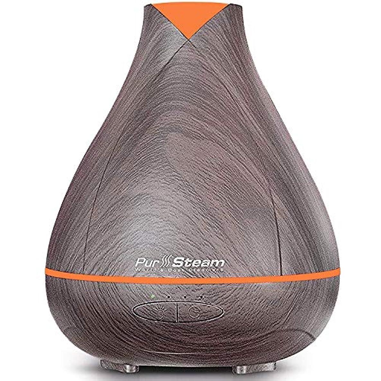故意にジョージバーナード代わりにを立てるPurSteam Essential Oil Diffuser, Wood Grain Aromatherapy Diffuser Ultrasonic Cool Mist Humidifier with Color LED...