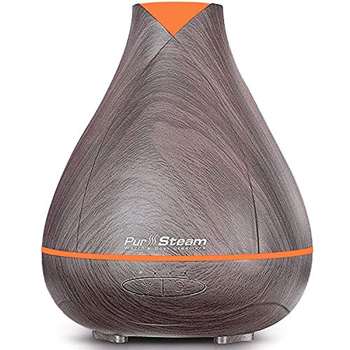 一般接地ホイストPurSteam Essential Oil Diffuser, Wood Grain Aromatherapy Diffuser Ultrasonic Cool Mist Humidifier with Color LED...