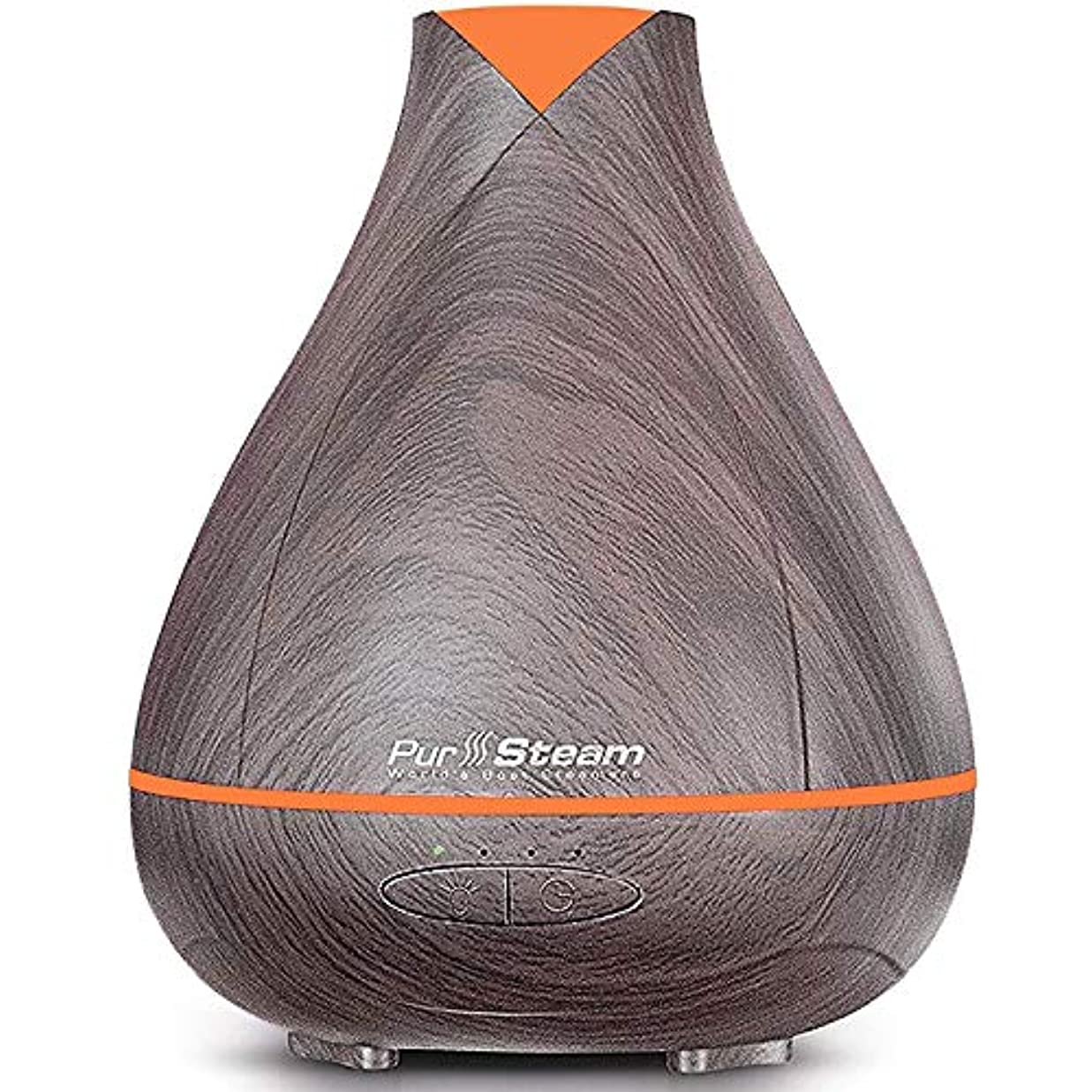 わかる遊び場ハッチPurSteam Essential Oil Diffuser, Wood Grain Aromatherapy Diffuser Ultrasonic Cool Mist Humidifier with Color LED...
