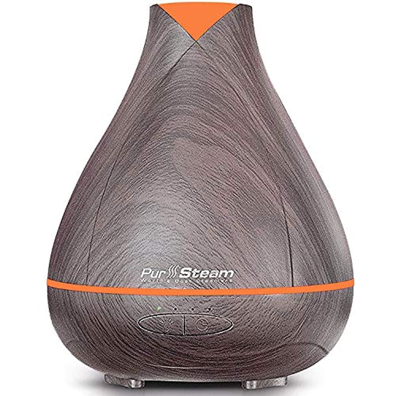 泥だらけ非武装化反抗PurSteam Essential Oil Diffuser, Wood Grain Aromatherapy Diffuser Ultrasonic Cool Mist Humidifier with Color LED...