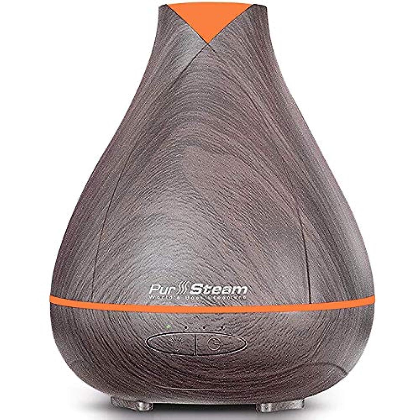 誤解を招く溶融囲むPurSteam Essential Oil Diffuser, Wood Grain Aromatherapy Diffuser Ultrasonic Cool Mist Humidifier with Color LED...