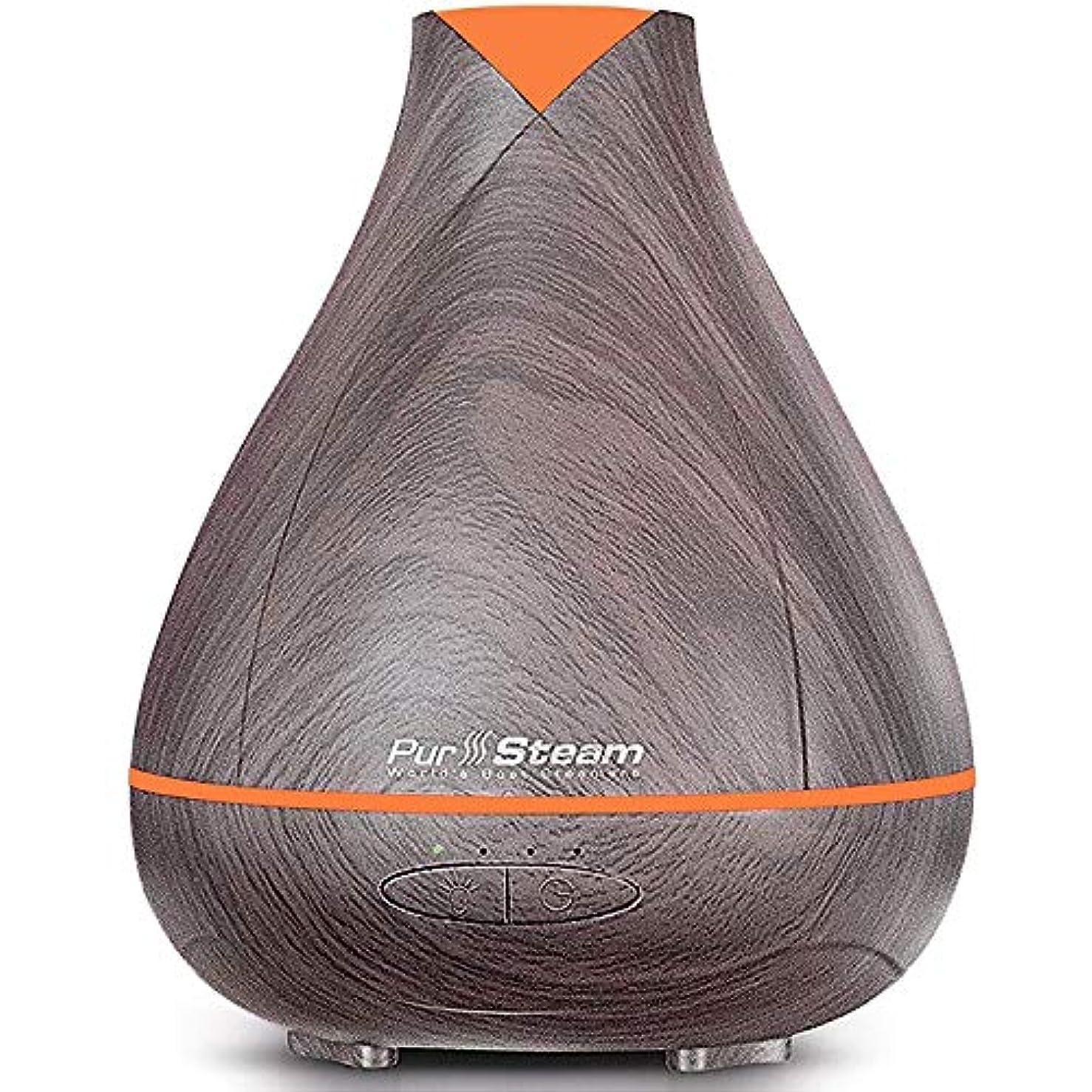 可愛い懐疑的洋服PurSteam Essential Oil Diffuser, Wood Grain Aromatherapy Diffuser Ultrasonic Cool Mist Humidifier with Color LED...