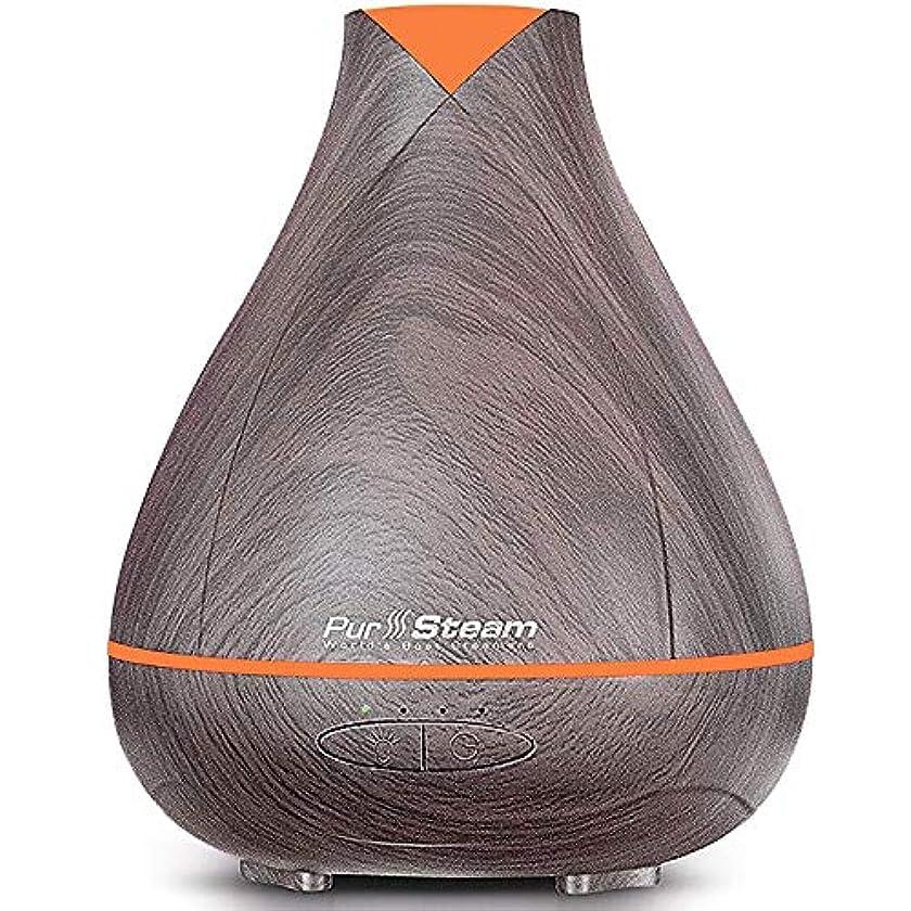 オートコンソールコスチュームPurSteam Essential Oil Diffuser, Wood Grain Aromatherapy Diffuser Ultrasonic Cool Mist Humidifier with Color LED...