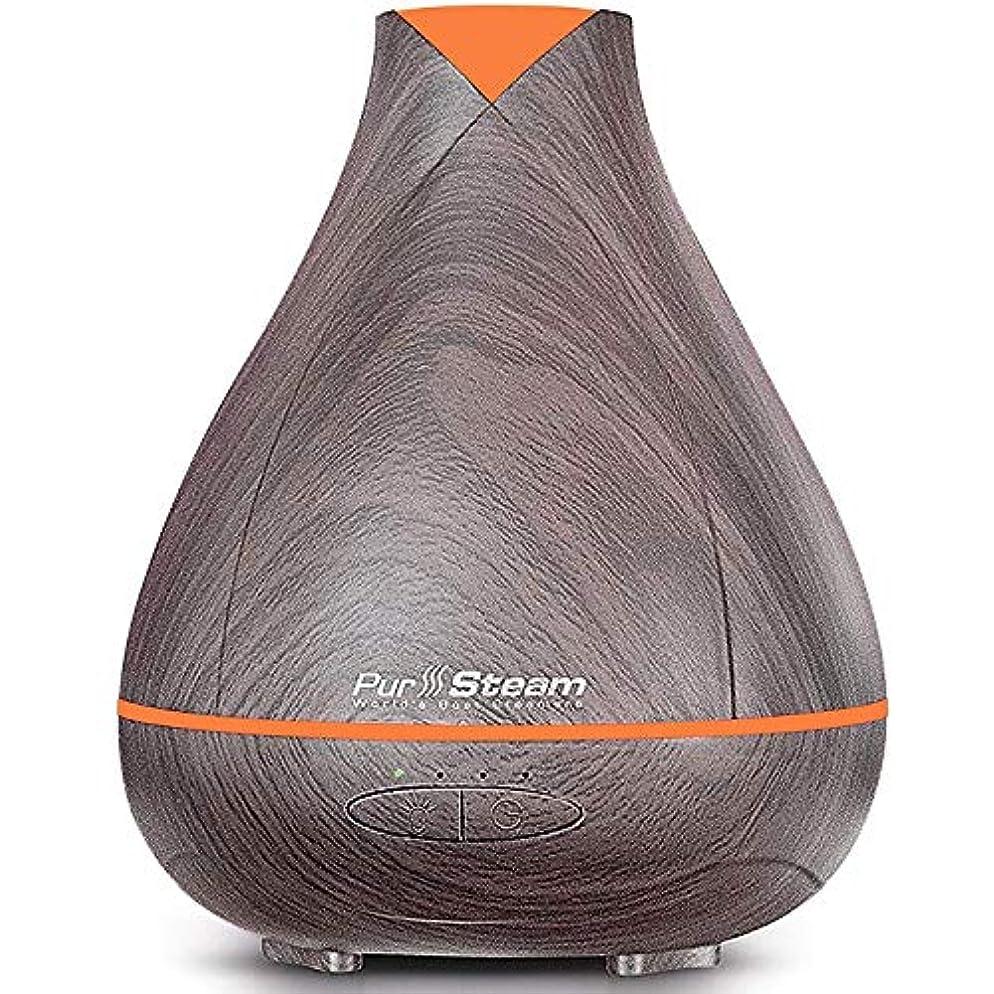 以降煙刺激するPurSteam Essential Oil Diffuser, Wood Grain Aromatherapy Diffuser Ultrasonic Cool Mist Humidifier with Color LED...