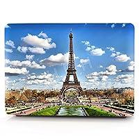 "HRH 3dパターン設計ノートパソコンボディシェル保護ゴム引きハードケースfor Apple MacBook Air 11"" 13"" / Pro 13"" 15"" / Pro Retina 12"" 13"" 15"" 13""Macbook Air(A1466/A1369) HRHcase13air-Eiffel Tower"