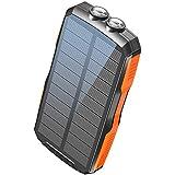 2020年新登場 モバイルバッテリー ソーラー ソーラーチャージャー 25000mAh elzle 大容量 Qiワイヤレ…