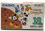 CASIO カシオ ネームランド ディズニーキャラクター テープ 18mm XR-18DY12 ラベルライター用カセットカートリッジ