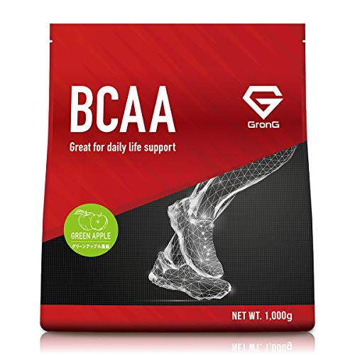 GronG(グロング) BCAA アミノ酸 グリーンアップル風味 1kg (100食分) 含有率84% 国産