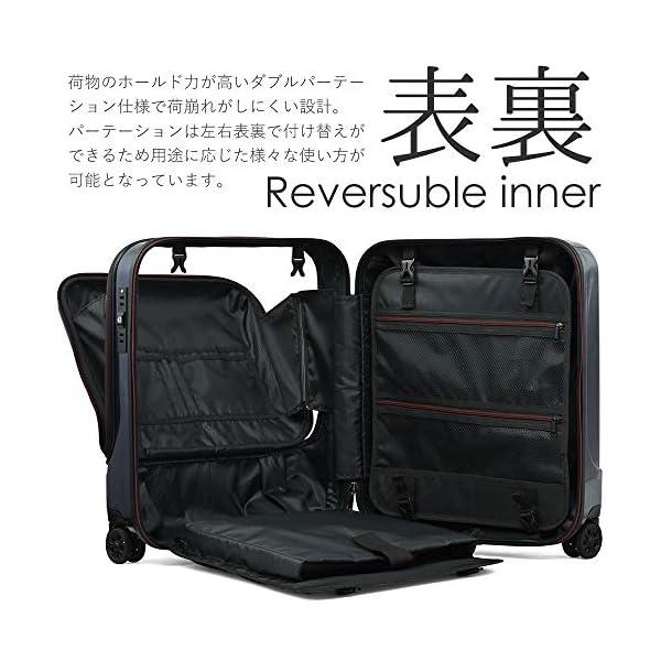 スーツケース 機内持込 軽量 フロントオープン...の紹介画像5