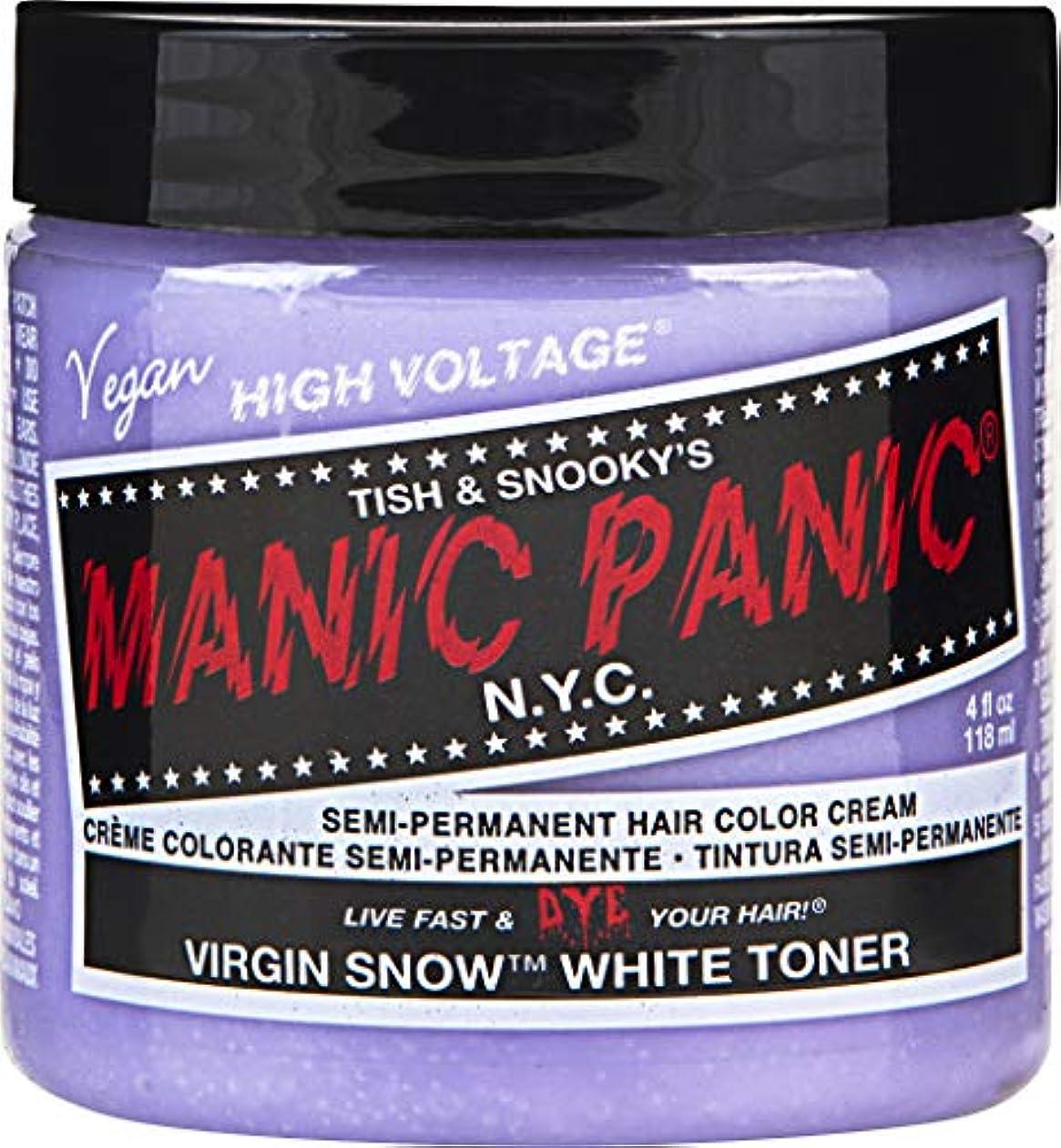 ゴネリル援助経済的MANIC PANIC Cream Formula Semi-Permanent Hair Color - Virgin Snow - White Toner/Mixer