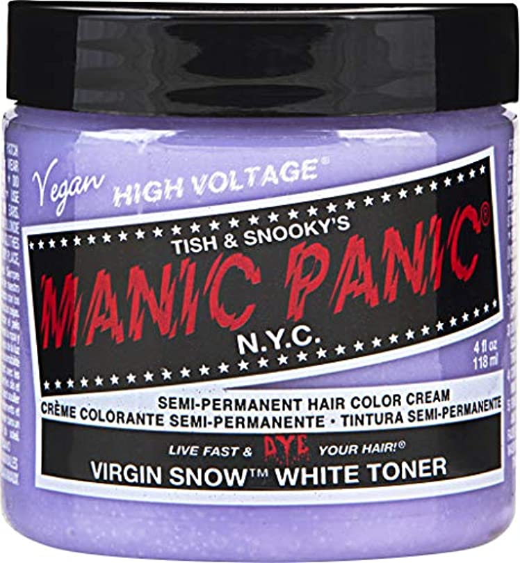 降雨灌漑あそこMANIC PANIC Cream Formula Semi-Permanent Hair Color - Virgin Snow - White Toner/Mixer