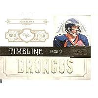 国宝フットボールNFL 2011タイムラインマテリアルカスタム名# 9ジョン?エルウェイMem 38 / 99 Broncos