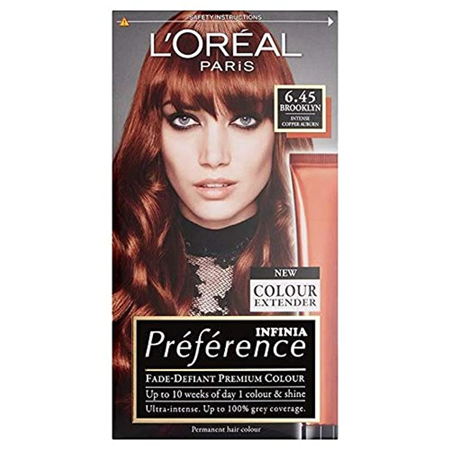 瞬時に無臭音声学[Preference] ロレアルパリ優先6.45銅赤褐色 - L'oreal Paris Preference 6.45 Copper Auburn [並行輸入品]